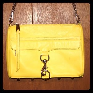 Rebecca Minkoff large yellow MAC crossbody/clutch